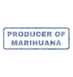 Producer of marihuana textile stamp vector