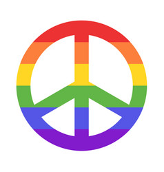 rainbow peace sign vector image