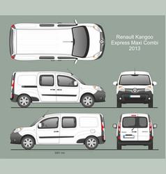 Renault kangoo express maxi combi van 2013 vector