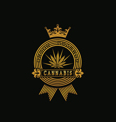 Royal golden cannabis vector