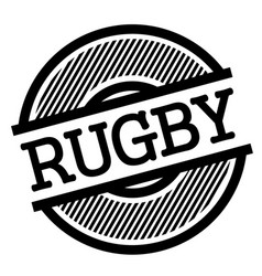 Rugby black stamp vector
