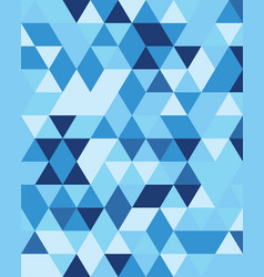 seamless triangular patter vector image