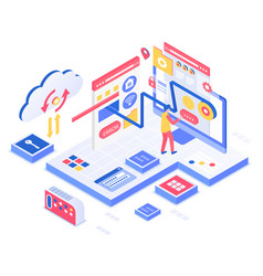 Seo isometric vector