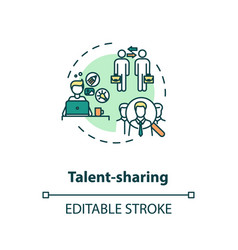 Sharing talent concept icon vector