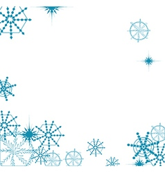 Snowflake background vector