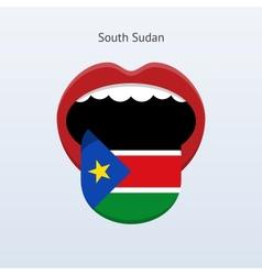 South sudan language abstract human tongue vector
