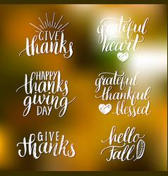 Thanksgiving lettering for invitations vector