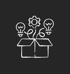 thinking outside box chalk white icons set vector image