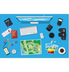 traveler planning trip vector image