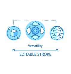 Versatility advantage concept icon vector