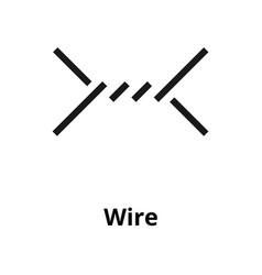 wire line icon vector image