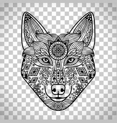 Wolf head with guata vector