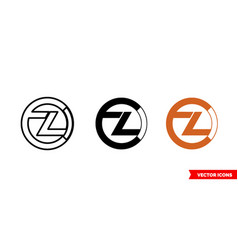 zclassic icon 3 types color black and white vector image