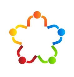 Business logo design Team star 5 vector image vector image