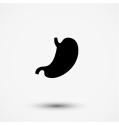 Flat black modern stomach gaster icon vector image vector image