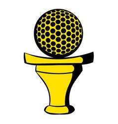 golf ball on a tee icon icon cartoon vector image