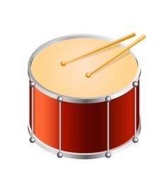 Isometric Bass drum vector image vector image