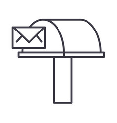 postboxemail delivery line icon sign vector image