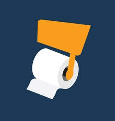 toilet paper roll vector image