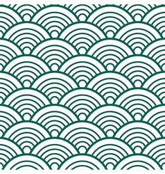 White Green Traditional Wave Japanese Chinese vector image vector image
