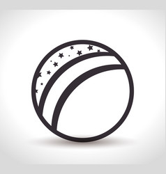 beach ball toy icon vector image vector image