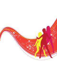 dancing girls vector image vector image