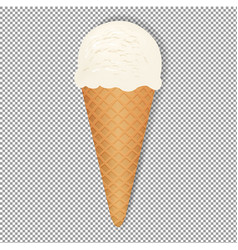 ice cream with transparent background vector image