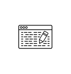 seo copywriting line icon vector image vector image
