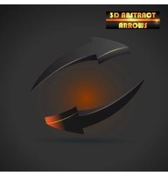 abstract black arrows 3d vector image