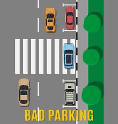 bad or wrong car parking vector image