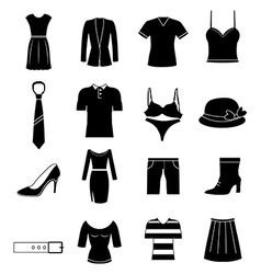 Cloths icons set vector image