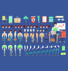 businessman character creation constructor vector image vector image