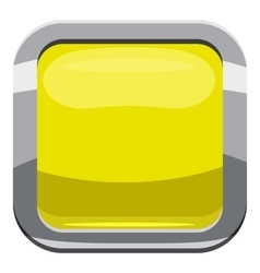 Citron square button icon cartoon style vector image vector image