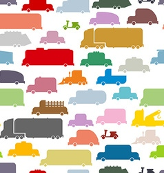 Colorful cars seamless pattern Lovely texture from vector image vector image