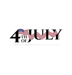 Happy independence day 4-th july vector image