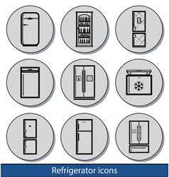 light refrigerator icons vector image vector image