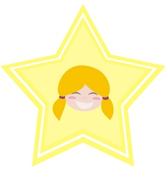 my happy shining star girl vector image