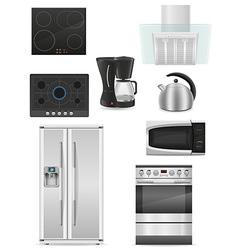 set of kitchen appliances 01 vector image vector image