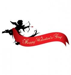 Valentine's day banner vector image