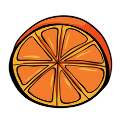 A sliced orange vector image