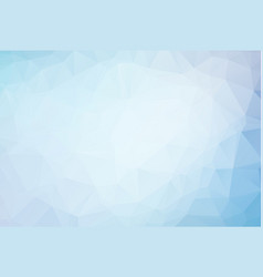 abstract blue polygonal mosaic background vector image