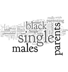 Articles on single parents and black males vector