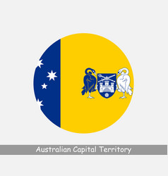 Australian capital territory round circle flag vector