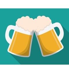 Beer glass drink design vector image vector image