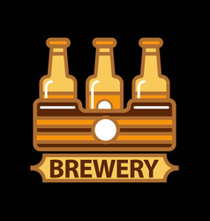 beer logo template design vector image