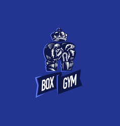 boxing gloves and crown vector image