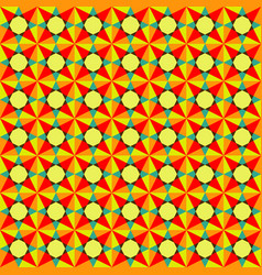 bright colored geometric seamless pattern vector image