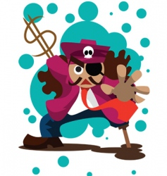 Businessman-pirate vector
