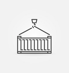 cargo container icon or sign vector image