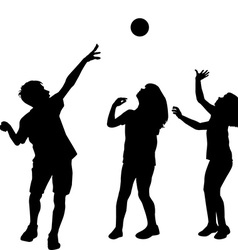 Children playing with a ball vector image